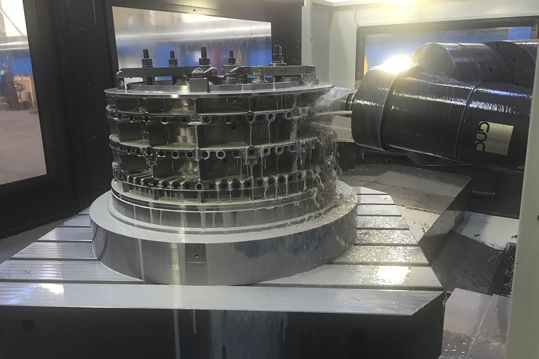 Revolving parts for aeroplane engines