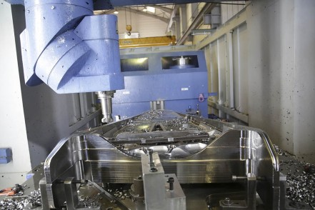 Milling machines for titanium structural flight part