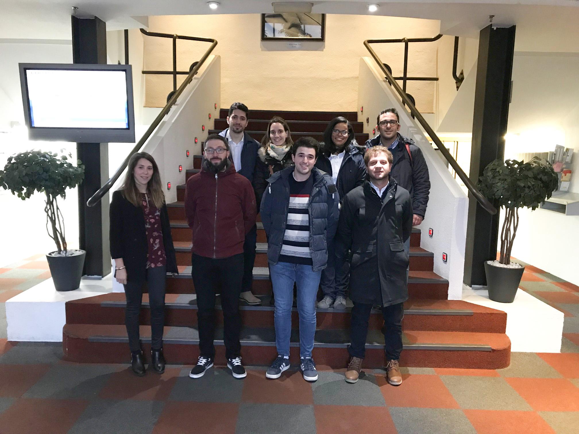 The University of Burgos MBA students visited Nicolás Correa's headquarters