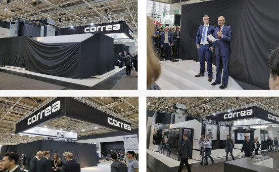 World presentation of new Correa milling machines at EMO.