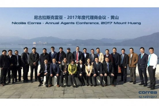 Conferencia Anual de los agentes de Nicolás Correa en China